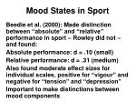 mood states in sport21