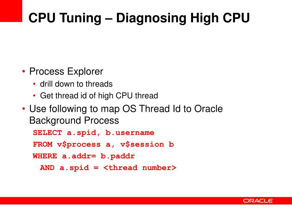 CPU Tuning – Diagnosing High CPU