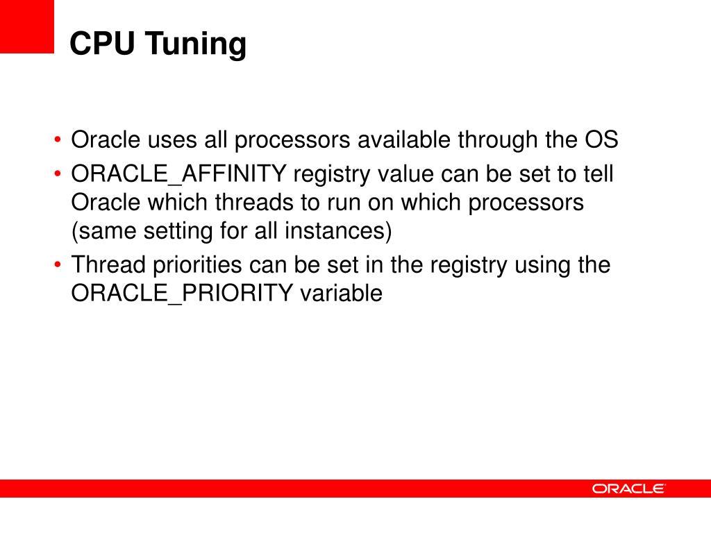 CPU Tuning