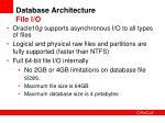 database architecture file i o