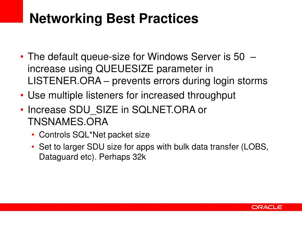 Networking Best Practices