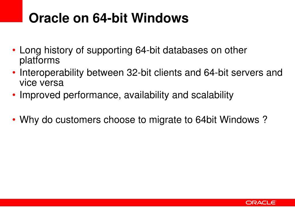 Oracle on 64-bit Windows