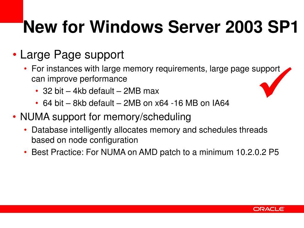 New for Windows Server 2003 SP1