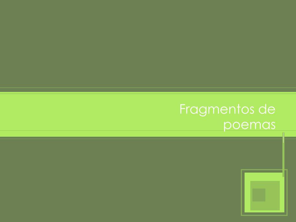 fragmentos de poemas l.
