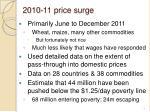 2010 11 price surge