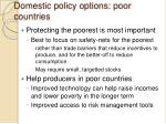 domestic policy options poor countries