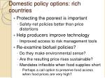 domestic policy options rich countries