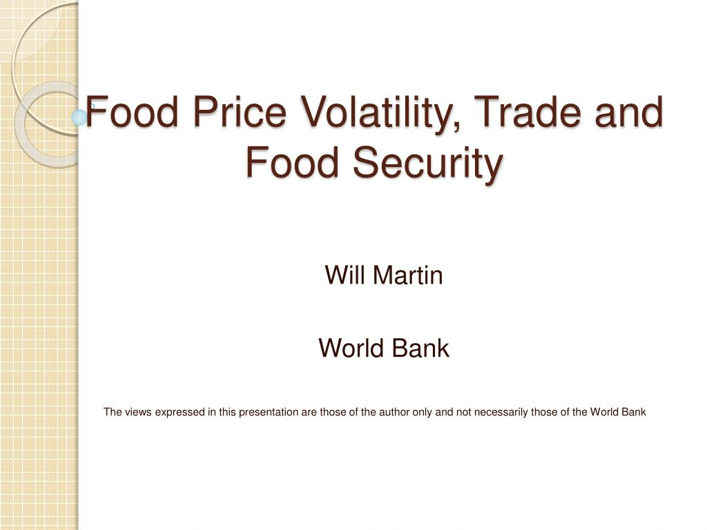food price volatility trade and food security l.