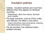 insulation policies