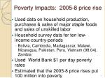 poverty impacts 2005 8 price rise