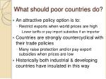 what should poor countries do