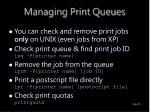 managing print queues