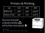 printers printing