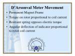 d arsonval meter movement