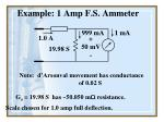 example 1 amp f s ammeter