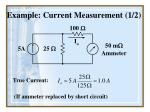 example current measurement 1 2