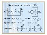 resistors in parallel 1 2