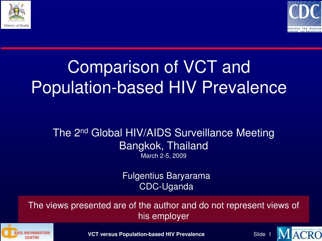 comparison of vct and population based hiv prevalence l.