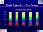 study population age groups