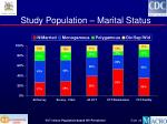 study population marital status