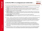 la direttiva psd e le conseguenze per il settore enti
