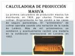 calculadora de producci n masiva