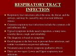 respiratory tract infection