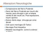 alterazioni neurologiche
