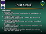 trust award