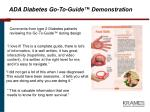 ada diabetes go to guide demonstration18