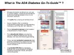 what is the ada diabetes go to guide