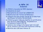 a npa 14 evaluation
