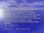 the ricardian approach 1