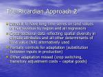 the ricardian approach 2