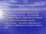 water crop response simulation models 2