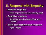 5 respond with empathy
