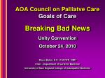 aoa council on palliatve care goals of care
