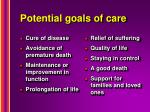 potential goals of care