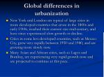 global differences in urbanization