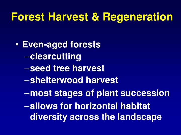 Forest Harvest & Regeneration