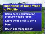 importance of dead wood to wildlife2