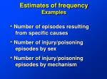 estimates of frequency examples