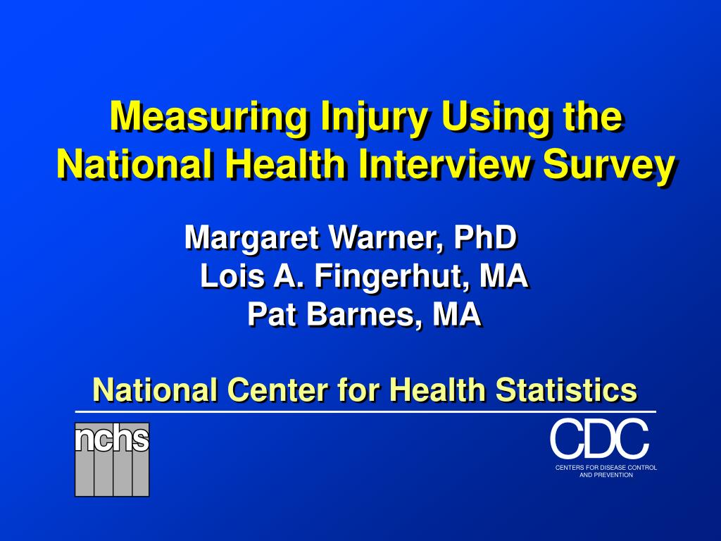measuring injury using the national health interview survey l.