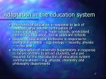 adaptation in the education system