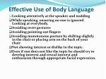 effective use of body language