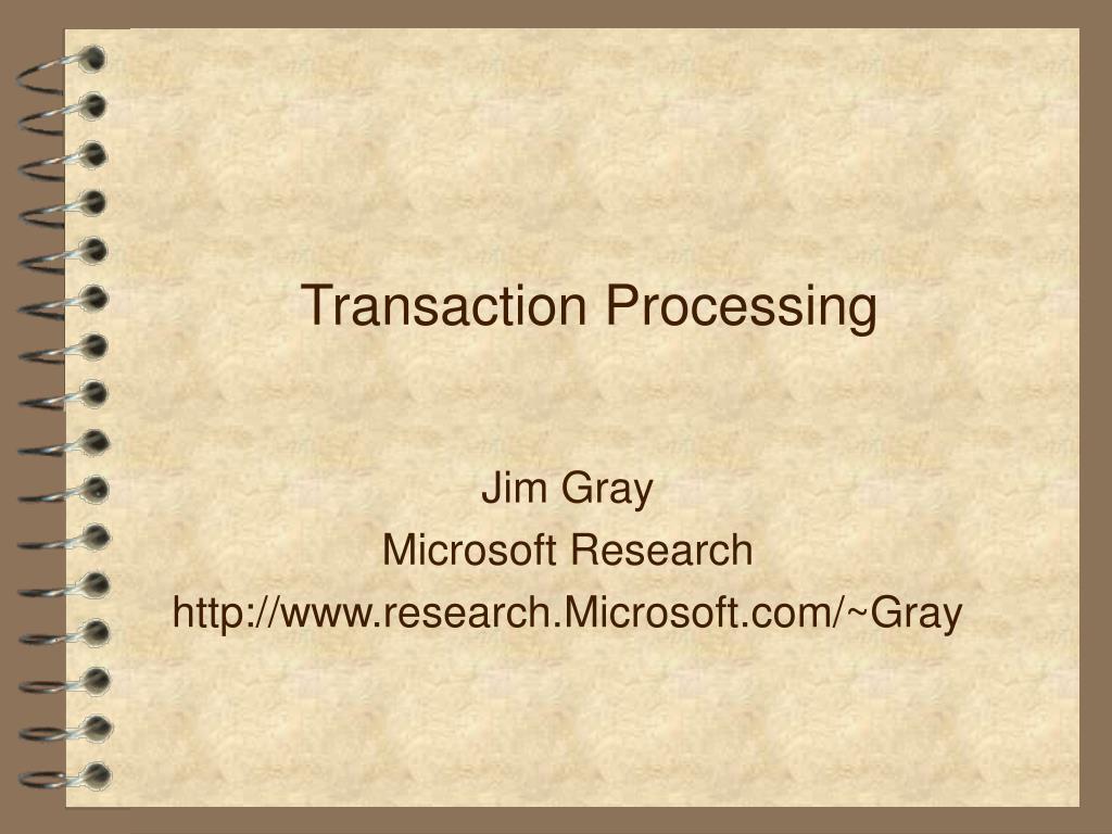 transaction processing l.