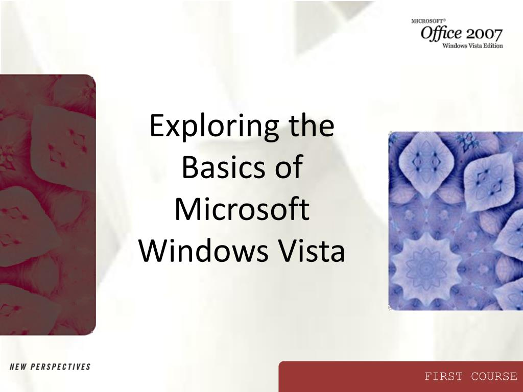 exploring the basics of microsoft windows vista l.
