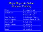 major players in online women s clothing