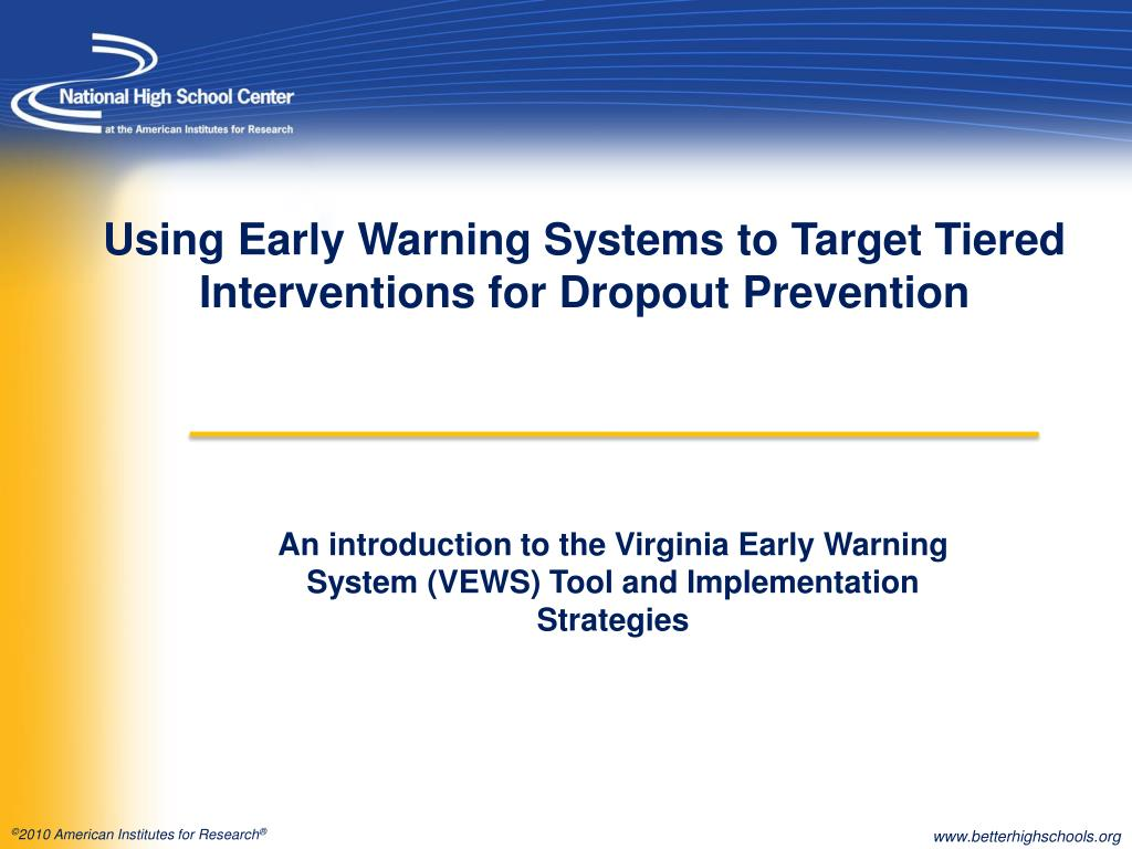using early warning systems to target tiered interventions for dropout prevention l.