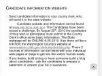 candidate information website